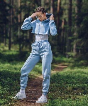 Trousers For Women Baby Blue Ttbfashion
