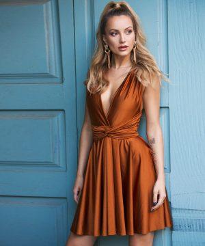 Elegant Dress For Women Copper Ttbfashion
