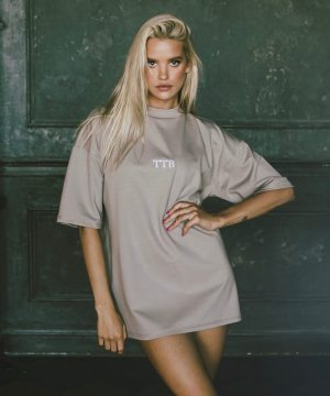 Nude Oversized Shirt For Women Top To Bottom