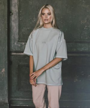 Mint Color Tshirt For Women Top To Bottom