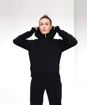 Black Tracksuit For Women Top To Bottom