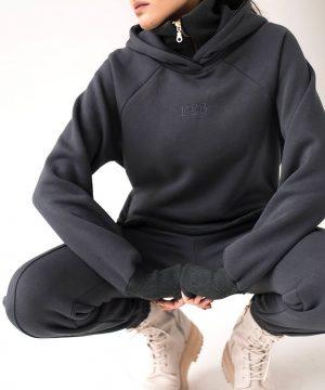 Graphite Hoodie For Women Ttb Fashion