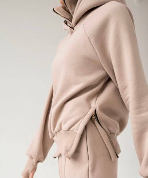 Nude Hoodie For Women Top To Bottom