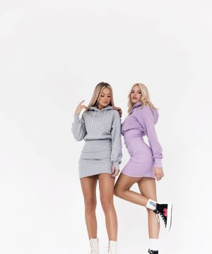 Jumpers Dresses For Women Lilac Grey Top To Bottom