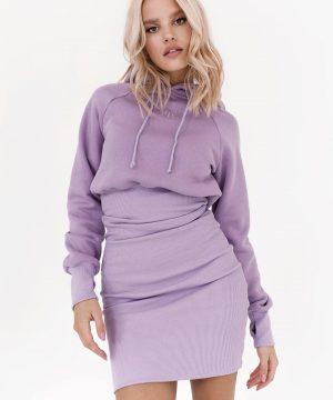 Sweatshirt Dress For Women Lilac Top To Bottom