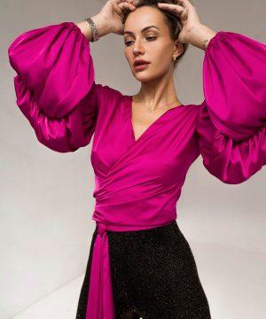 Blouses For Women Silky Pink Ttbfashion