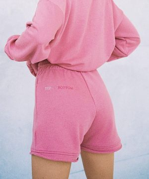 Rose Color Shorts For Women