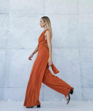 Copper Color Jumpsuit For Girls